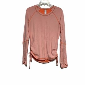Lucy Activewear Long Sleeve Striped Top Sz MD